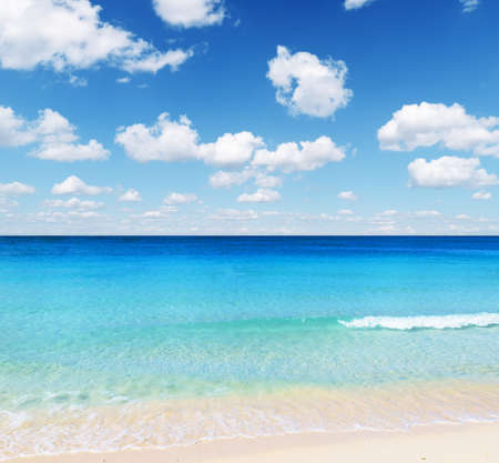 Tropical beach. Sky and sea. photo