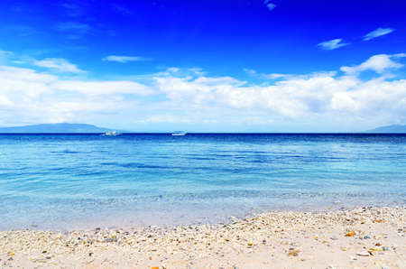 Tropical beach  Blue sky and clear water Stock Photo - 12683021