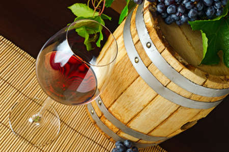 Red wine on the table. Stock Photo - 13012925