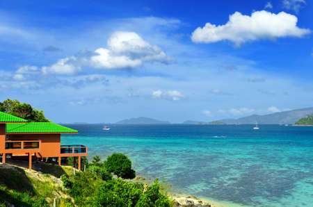 sea of houses: Tropical resort. Red sea view house.