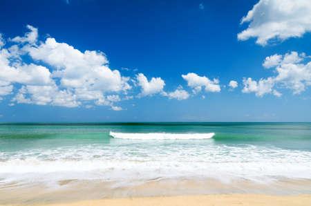 White sand beach and blue sky Stock Photo - 14216773