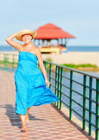 Young woman enjoy on seaside  photo