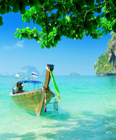 Clear water and blue sky  Krabi province, Thailand  photo