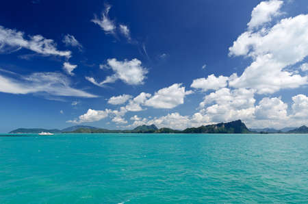 Beautiful tropical sea under the blue sky. photo