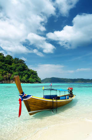 Clear water and blue sky  Lipe island, Thailand  photo