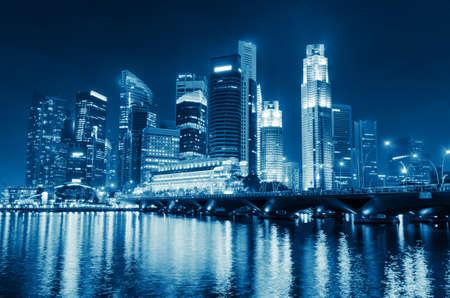 Singapore city skyline at night. photo