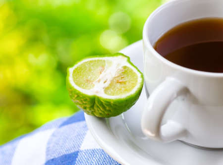 Earl Grey tea with bergamot. photo