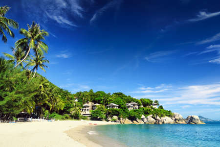 Beau paysage tropical �le de Samui, Tha�lande photo