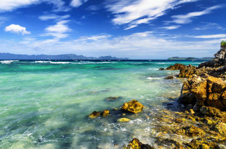 palawan: Tropical landscape. Coron island, Palawan, Philippines. Stock Photo