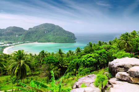 phi phi island: Tropical landscape  Phi-phi island, Thailand  Stock Photo