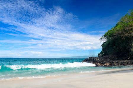 yacht people: Tropical beach. Padangbai, Bali, Indonesia.