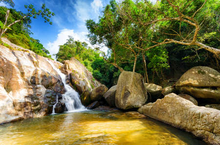 Hin Lad Waterfall. Koh Samui, Thailand. photo