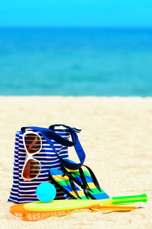 Beach accessories  Concept of summer vacations  photo