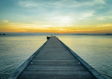 wooden dock: Boat pier at sunset. Beautiful landscape.