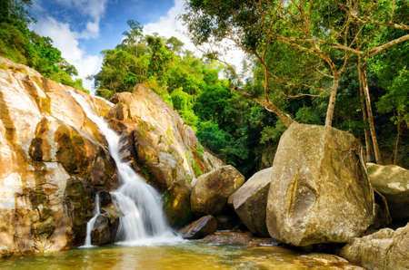 flowing river: Hin Lad Waterfall  Koh Samui, Thailand