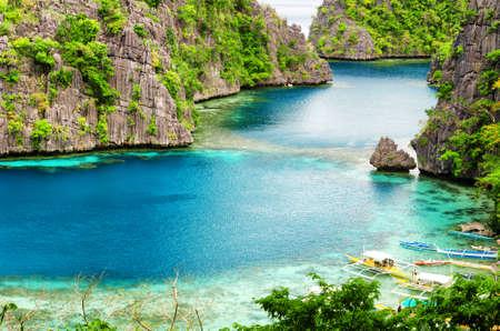 coron: Tropical seashore  Coron, Busuanga island, Palawan province, Philippines  Stock Photo