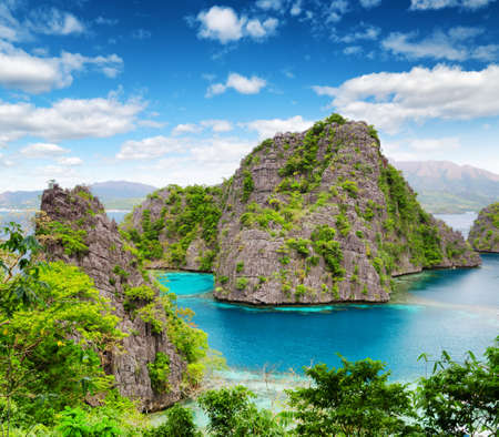 palawan: Tropical seashore  Coron, Busuanga island, Palawan province, Philippines  Stock Photo