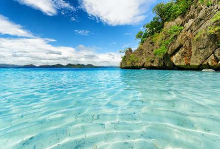 palawan: Tropical costa Coron, Isla Busuanga, provincia de Palawan, Filipinas