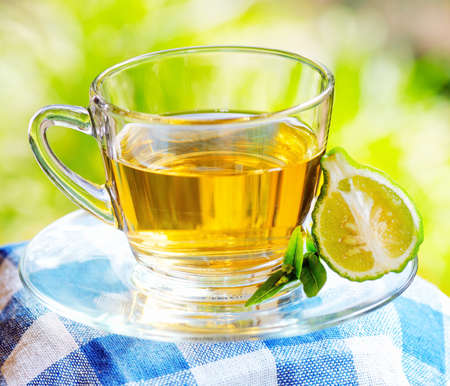 Earl Grey tea with bergamot.