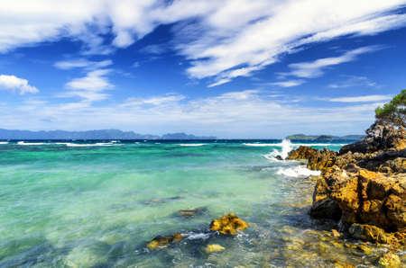 palawan: Tropical landscape. Coron island, Palawan, Philippines. Stock Photo