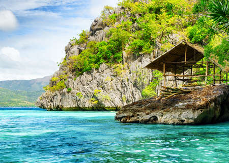palawan: Tropical seashore. Coron, Busuanga island, Palawan province, Philippines. Stock Photo