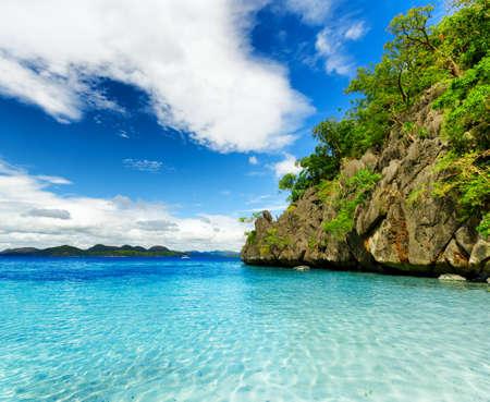 coron: Tropical seashore. Coron, Busuanga island, Palawan province, Philippines. Stock Photo