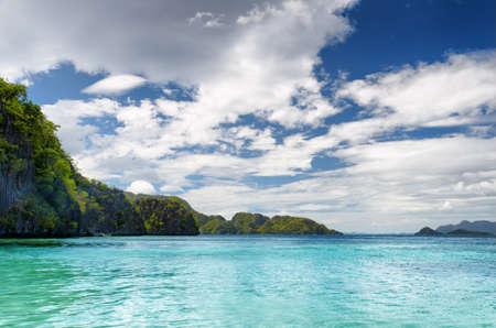 Tropical seashore. Coron, Busuanga island, Palawan province, Philippines. Stock Photo