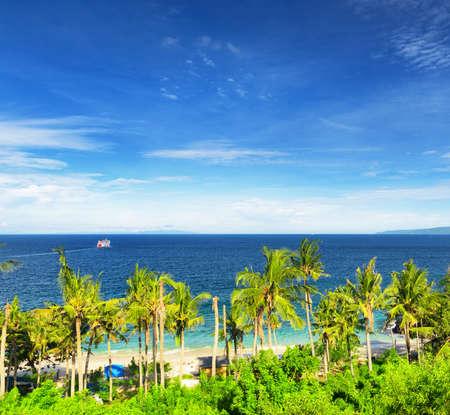 Tropical beach. Padangbai, Bali, Indonesia. photo