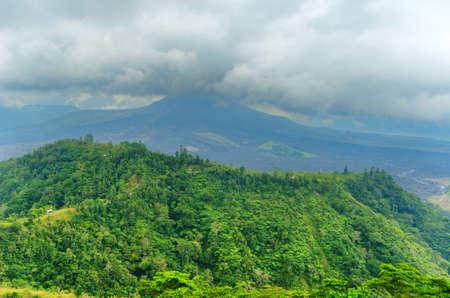Mount Batur. Active volcano in Bali, Indonesia.  photo