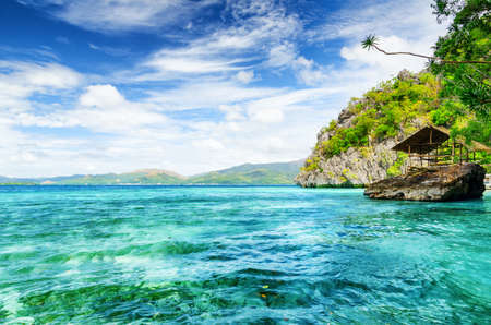 palawan: Tropical seashore. Coron, Busuanga island, Palawan province, Philippines. Stock Photo