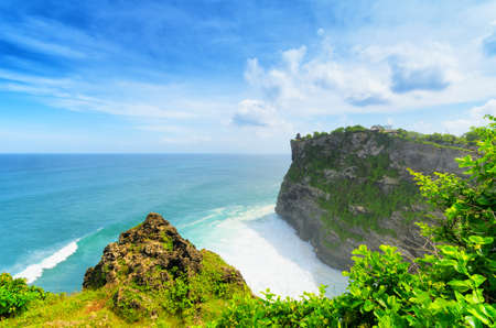 Coast at Uluwatu temple, Bali, Indonesia. photo