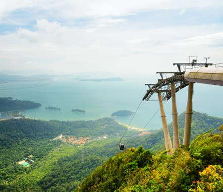 langkawi island: Cable car on Langkawi Island, Malaysia  Stock Photo