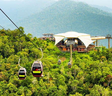 steel cable: Cable car on Langkawi Island, Malaysia.
