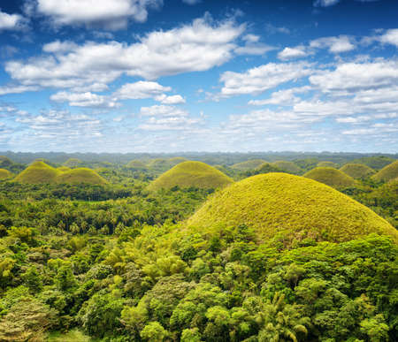 bohol: Chocolate hills on Bohol Island, Philippines