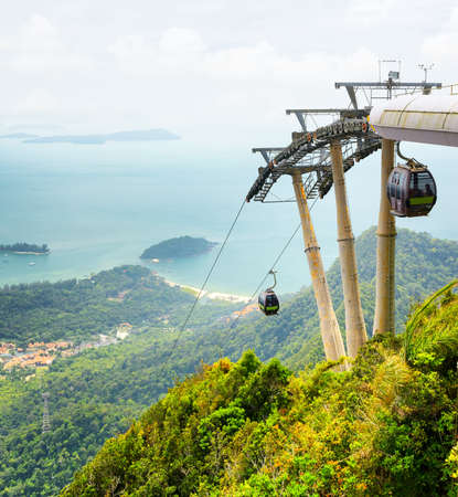 langkawi: Cable car on Langkawi Island, Malaysia  Editorial