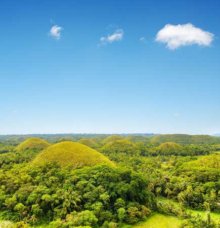 bohol: Chocolate hills on Bohol Island, Philippines