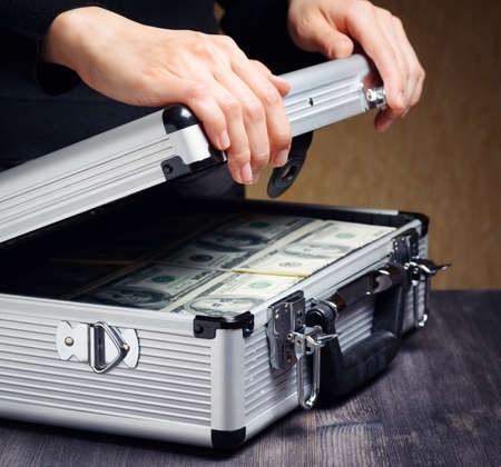 cash box: Storage and protection of cash and valuable items. Banking concept.
