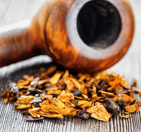 Pipe tobacco  Shallow depth of field   Stock Photo