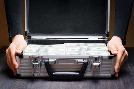 business case: Storage and protection of cash and valuable items. Banking concept.