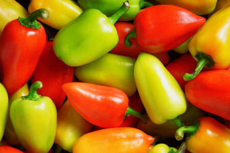 bell peppers: Fresh sweet peppers. Vegetable background.