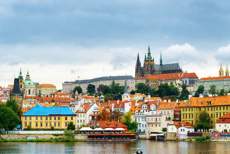 castle district: View of the Lesser Town (Little Quarter) and Castle District (Hradcany) in Prague, Czech Republic.