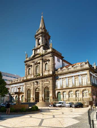 tourist destinations: The Trinity Church in Porto, Portugal. Porto is one of the most popular tourist destinations in Europe.