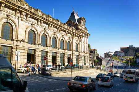 PORTO, PORTUGAL - AUGUST 16, 2014: The Sao Bento Railway Station. The building of station is a popular tourist attraction of Europe.