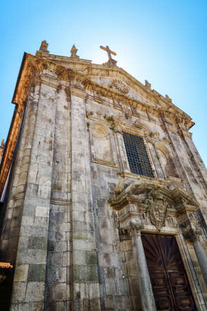 the victorious: The Church of Our Lady Victorious in Porto, Portugal. Porto is one of the most popular tourist destinations in Europe.