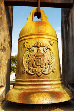 bell bronze bell: The bronze bell in the Monte Fort of Macau. Macau is a popular tourist attraction of Asia and leading casino market of the world.