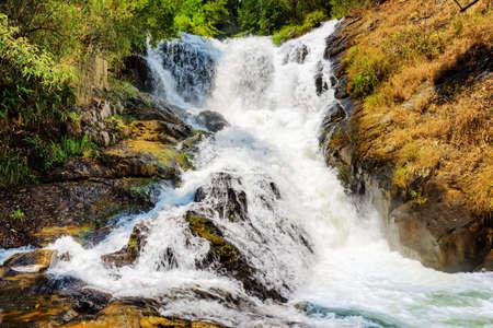 dalat: Bubbling stream of the Datanla waterfall in Da Lat city (Dalat), Vietnam. Da Lat and the surrounding area is a popular tourist destination of Asia.