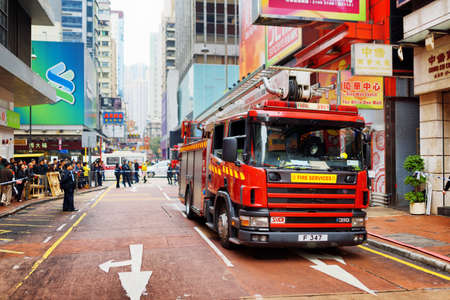 Firefighters arrived on the challenge to the shopping mall of Hong Kong. Hong Kong is a popular tourist attraction of Asia and leading financial centre of the world. Editorial