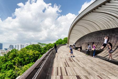 Resultado de imagen para el puente Henderson Waves es la pasarela peatonal más alta de Singapur