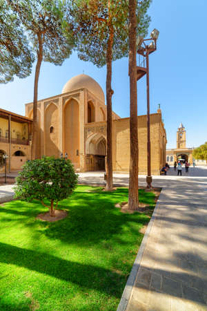 Isfahan, Iran - 24 October, 2018: Awesome view of the Holy Savior Cathedral (Vank Cathedral) in the New Julfa district. Amazing architecture of the Armenian Apostolic Church. Beautiful exterior. Zdjęcie Seryjne