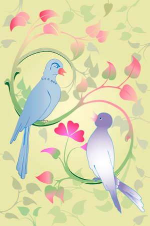 valentine couple dove Zdjęcie Seryjne - 8069401